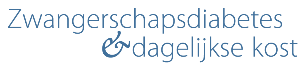 Logo Zwangerschapsdiabetes en dagelijkse kost